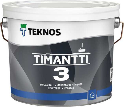 Текнос Timantti 3 грунтовка (900 мл) белая