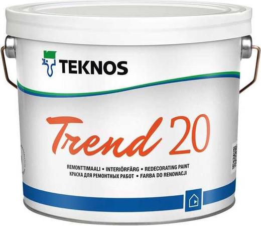 Текнос Trend 20 краска для ремонтных работ (900 мл) белая