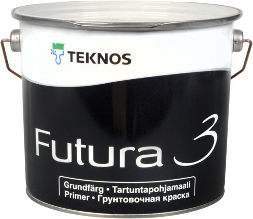 Текнос Futura 3 грунтовочная краска адгезионная (900 мл) белая