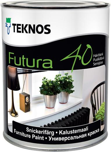 Текнос Futura 40 универсальная краска (900 мл) бесцветная