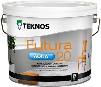 Текнос Futura Aqua 20 полуматовая универсальная краска (900 мл) белая