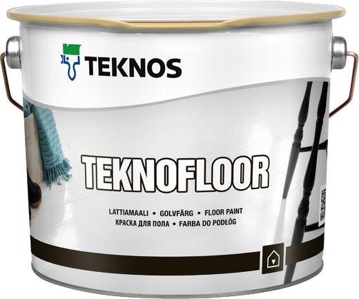 Текнос Teknofloor краска для пола (900 мл) бесцветная