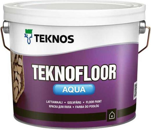 Текнос Teknofloor Aqua краска для пола (900 мл) белая
