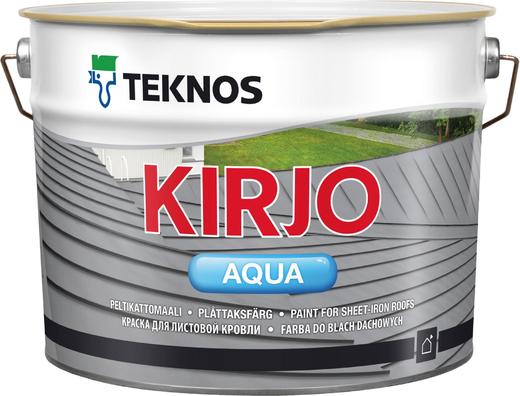 Текнос Kirjo Aqua краска для листовой кровли (9 л) белая