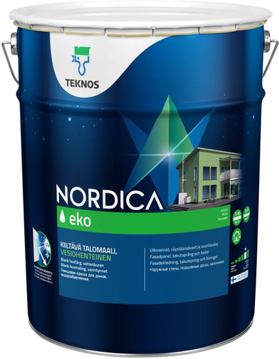Текнос Nordica Eko краска для домов (900 мл) белая