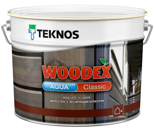 Текнос Woodex Aqua Classic лессирующий антисептик (900 мл) бесцветный