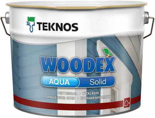 Текнос Woodex Aqua Solid кроющий антисептик (900 мл) белый