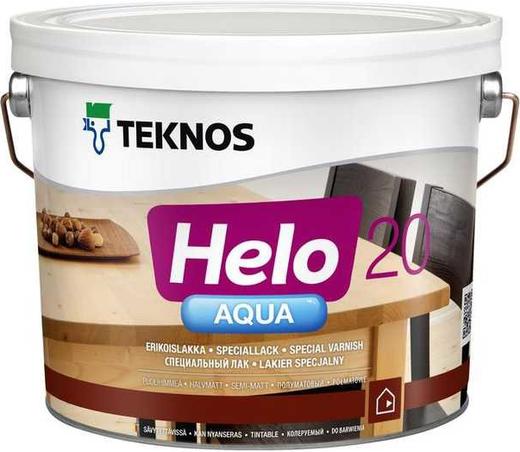 Текнос Helo Aqua 20 полуматовый водоразбавляемый специальный лак (9 л)