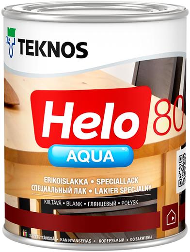 Лак Текнос Helo aqua 80 глянцевый водоразбавляемый специальный 2.7 л
