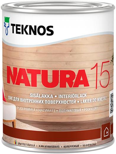 Лак Текнос Natura 15 полуматовый для внутренних поверхностей 9 л
