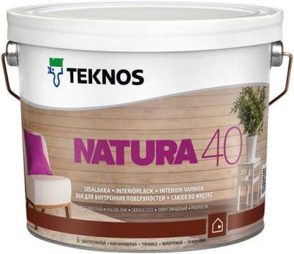 Текнос Natura 40 полуглянцевый лак для внутренних поверхностей (2.7 л)