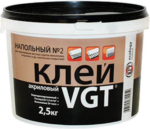 ВГТ Напольный №2 Профессионал клей акриловый (11 кг)