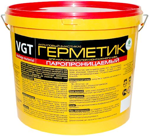 ВГТ герметик акриловый паропроницаемый (мастика 900 г) белый