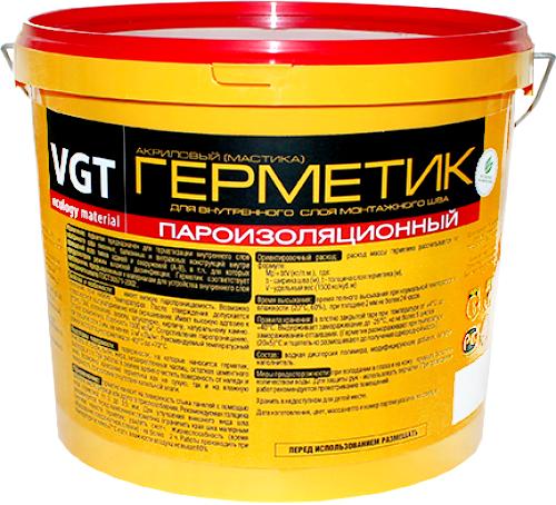 ВГТ герметик мастика акриловый пароизоляционный (7 кг) белый