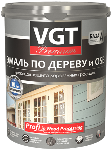 ВГТ Premium ВД-АК-1179 эмаль по дереву и OSB (1 кг) светло-оливковая шелковистый блеск