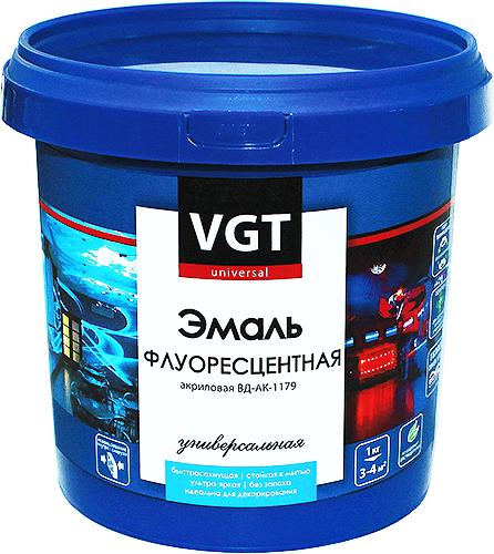 ВГТ ВД-АК-1179 эмаль флуоресцентная акриловая универсальная (1 кг) белая флуоресцентная