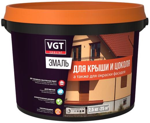 ВГТ ВД-АК-1179 эмаль для крыши и цоколя (10 кг) шоколадная