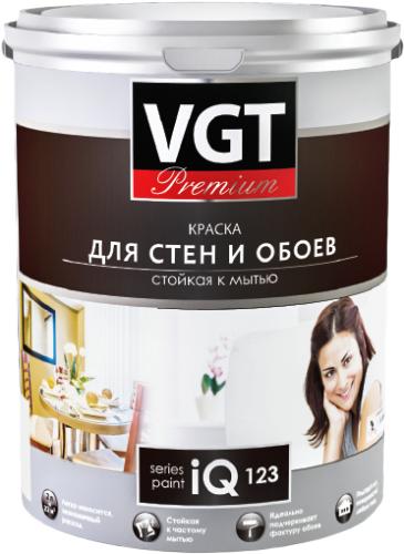 ВГТ Premium iQ 123 краска для стен и обоев стойкая к мытью (2 л) бесцветная
