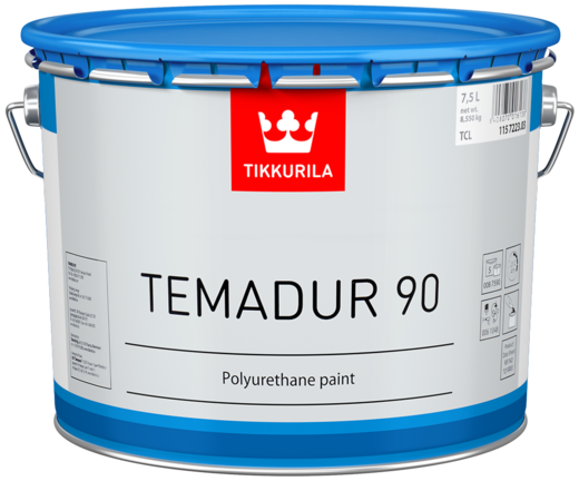 Тиккурила Темадур 90 двухкомпонентная высокоглянцевая полиуретановая краска (10 л база TML) металлик