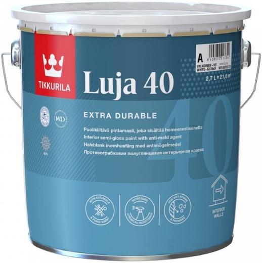 Тиккурила Луя 40 экстремально стойкая краска покрывная полуглянцевая (9 л) белая