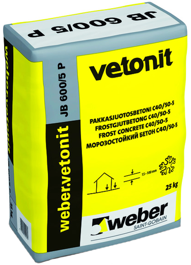 Вебер Ветонит JB 600/5 P морозостойкий бетон (25 кг)