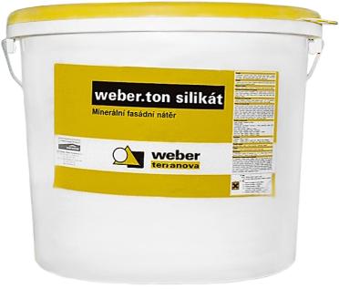 Вебер.Ton Silikat силикатная фасадная краска (25 кг) белая