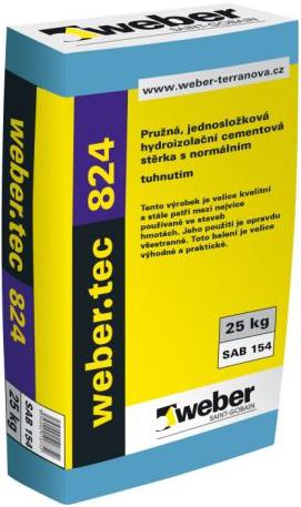 Вебер.Tec 824 цементная эластичная гидроизоляция (18 кг)