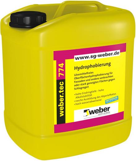 Вебер.Tec 774 прозрачный водоотталкивающий концентрат (2.5 л) бесцветный