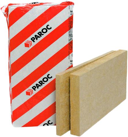Paroc InWall негорючая упругая теплоизоляционная плита из каменной ваты (0.6*1.2 м/80 мм)