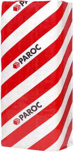 Paroc WAS 25tb полужесткая плита из каменной ваты с покрытием из стеклохолста черного цвета