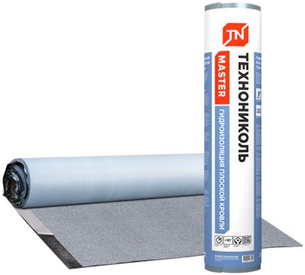 Технониколь Гидроизоляция Плоской Кровли самоклеящийся материал с крупнозернистой посыпкой (1*8 м) (5 кг/м2)