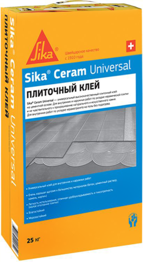 Sika Sikaceram Universal высококачественный цементный плиточный клей (25 кг)