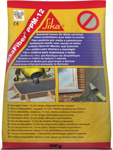 Sika Sikafiber PPM-12 полипропиленовая фибра для строительных растворов и бетонов (150 г)