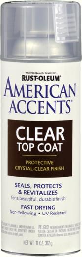 Rust-Oleum American Accents Ultra Cover 2X Coverage Satin Clear лак финишный матовый для всех эффектов (312 г)
