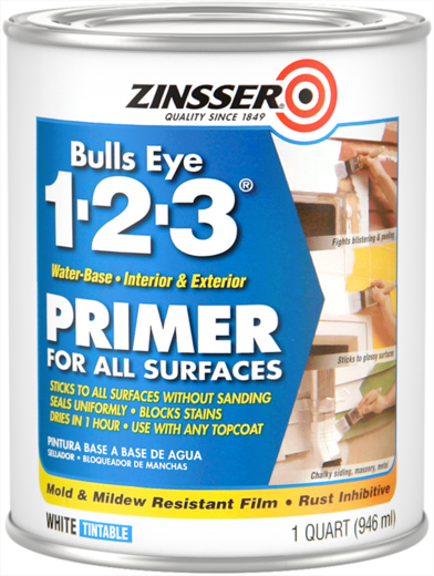 Rust-Oleum Zinsser Bulls Eye 1-2-3 грунт пятноустраняющий на акриловой основе (3.78 л)