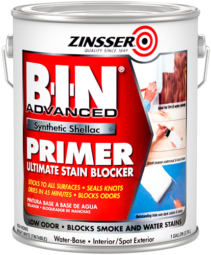 Rust-Oleum Zinsser B-I-N Primer грунт пятноустраняющий блокирующий запахи (3.78 л)