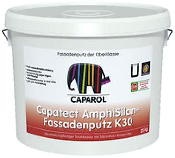 Готовая к применению структурная штукатурка Caparol Capatect AmphiSilan-Fassadenputz K30 (25 кг база 3 Германия)