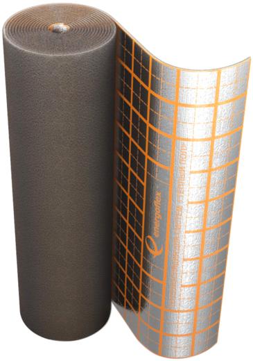 Энергофлекс Energofloor Compact рулон из вспененного полиэтилена покрытый алюминиевой фольгой