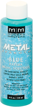 Rust-Oleum Modern Masters Metal Effects Blue Patina Aging Solution активатор для получения голубой патины