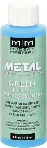 Rust-Oleum Modern Masters Metal Effects Green Patina Aging Solution активатор для получения зеленой патины (118.3 мл) зеленая патина