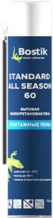 Bostik Standard All Season 60 бытовая полиуретановая всесезонная монтажная пена