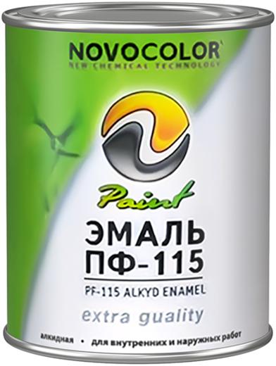 Новоколор ПФ-115 эмаль алкидная (900 г) коричневая