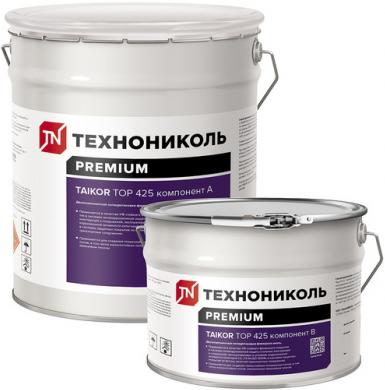 Технониколь Taikor Top 425 эмаль полиуретановая финишная (20 кг) серая от +5°C до +35°C