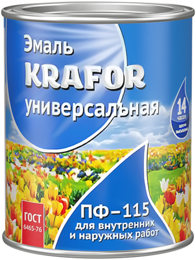 Krafor ПФ-115 эмаль универсальная атмосферостойкая