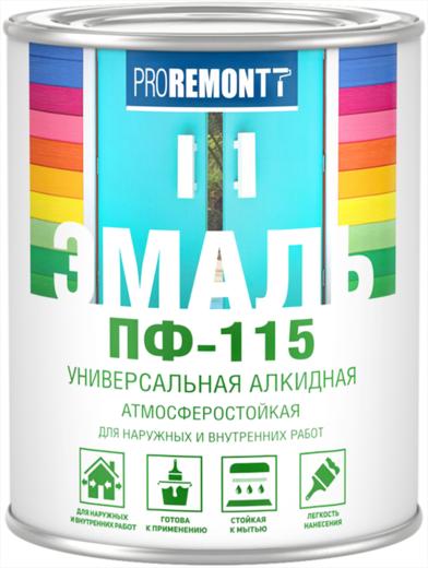 Proremontt ПФ-115 эмаль универсальная алкидная атмосферостойкая (900 г) белая