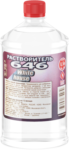White House Р-646 растворитель (1 л)