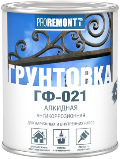 Proremontt ГФ-021 грунтовка алкидная антикоррозионная (18 кг) серая