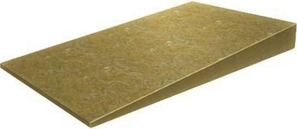 Уклон оптима уклонообразующий из каменной ваты 0.6*1 м/20 мм, 35 мм