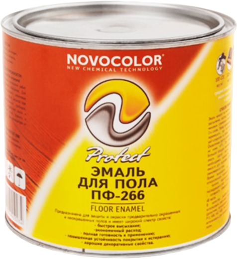 Новоколор ПФ-266 эмаль для пола (900 г) желто-коричневая
