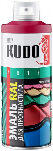 Kudo Arte эмаль RAL для профнастила и металлочерепицы ремонтная (520 мл) шоколадно-коричневая